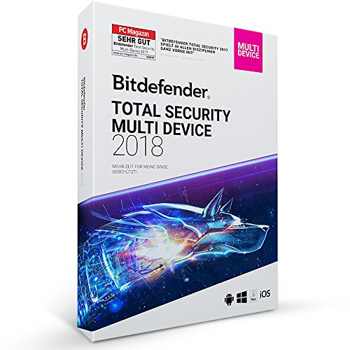 Bitdefender Total Security Multi Device 2018 - 5 Geräte | 1 Jahr / 365 Tage (MAC, Windows, Android & iOS) - Aktivierungscode
