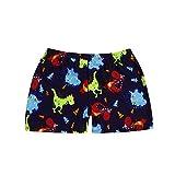 Topgrowth Pantaloncini da Mare Bambino Dinosauro Stampa del Fumetto Elastico Spiaggia Costume da Bagno Swimwear Shorts (Blu Scuro, XL)