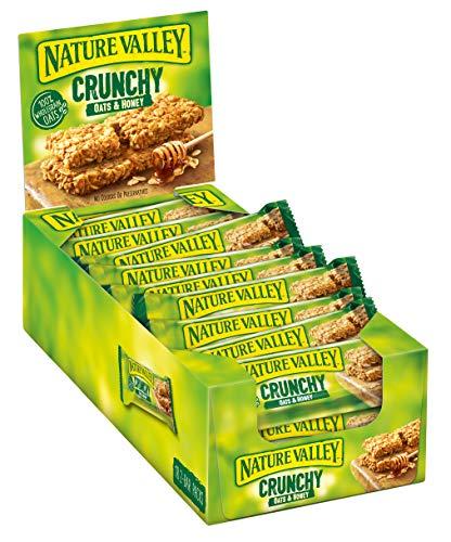 Nature Valley Crunchy Oats & Honey, Müsliriegel, 18x2-Bar Pack (18 x 42g) -