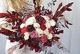 Blumenstrauß'The Countess' - Solablumen - Sola Bouquet - Holzblumen - Ökolgische Blumen - Hochzeitsstrauß - Verschiede Rottöne