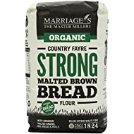 Marriages Organic Country Fayre Strong Malted Brown Bread Flour 1 kg (Pack of 6)