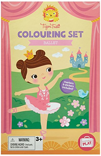 Ballerina Set for Girls. Ballet Colouring Book Activity Set for Girls. Great travel activity packs for kids / Activity Book. Great Gifts for Girls 6 years old by Tiger Tribe