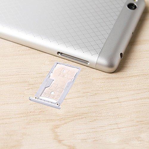 YICHAOYA Ersatzteile Hohe qualität für xiaomi redmi 3 & 3 s SIM & SIM/tf kartenfach (grau) (Farbe : Silver)