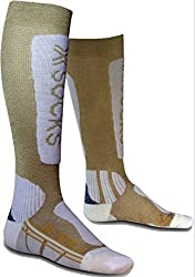 X-Socks Funktionssocken Ski Metal Lady, Gold/White, 37/38
