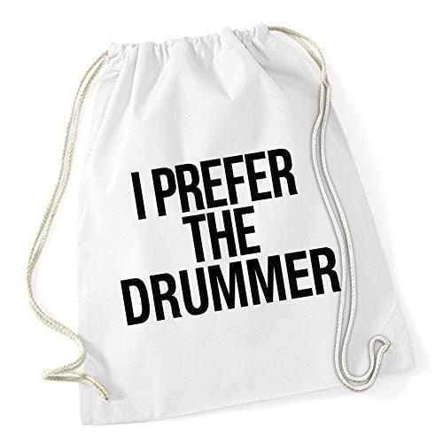 I Prefer The Drummer Sac De Gym Blanc Certified Freak