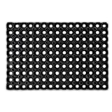Relaxdays 10016800 Fußmatte Fußabtreter Abtreter Gummi rechteckig, 40 x 60 cm
