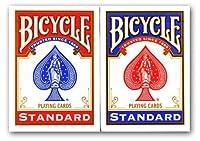 4 Barajas de cartas de la bicicleta (2 x azul rojo y 2 x) 4 Decks of Bicycle Playing Cards (2 x Red & 2 x Blue) de US Playing Card