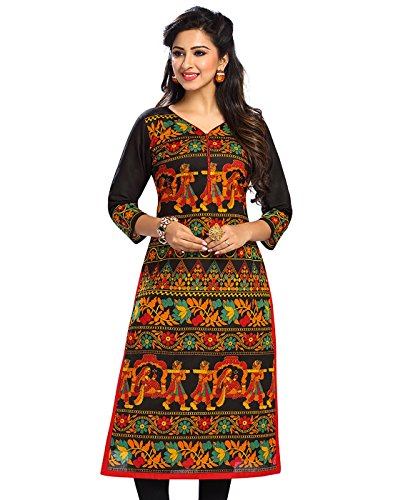 Jevi Prints Women's Unstitched Kurti Material (Saheli-1505_Multi-Coloured_Free Size)
