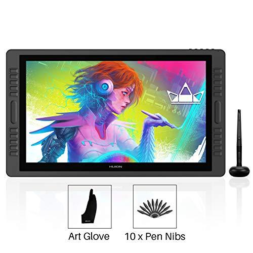 HUION KAMVAS PRO 22 HD Stift-Display mit batterieloser Stift, 8192 Druckstufen und 10 Schnelltasten, Touch Bar auf jeder Seite des Monitors - Verbesserte Version