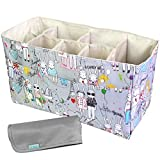 KF Baby Diaper Bag Insert Organizer (14 x 6.4 x 8 inch, Gray) + Diaper Changing Pad Value Combo