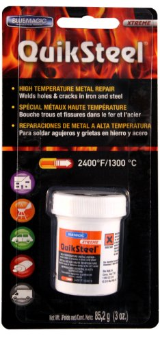 Preisvergleich Produktbild Blue Magic 18003 Quiksteel High Temperatur Metall Repair Blister Karte – 3 oz von Blue Magic