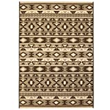 Festnight- Teppich in Sisal-Optik Indoor Outdoor 160x230 cm Braun Beige Ethno-Design