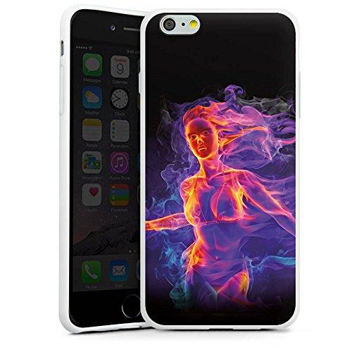 Apple iPhone X Silikon Hülle Case Schutzhülle Feuer Frau Zaubern Silikon Case weiß