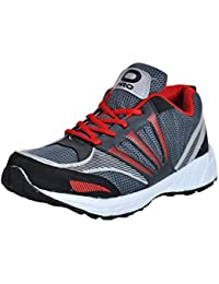 Pro (from Khadims) Mens Grey Synthetic/Mesh Gym Sneakers - 8
