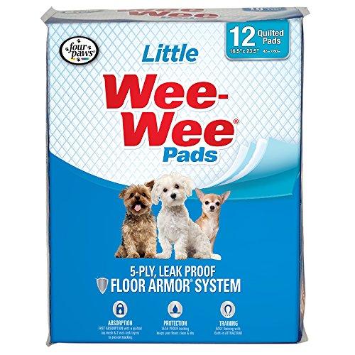 Four Paws Products Wee-Wee Schneideunterlage für kleine Hunde, 12 ct, 12 Count, Little Dog: 16.5