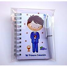 Recuerdos y Regalos de Primera Comunión para invitados. Libretas con mini bolígrafo. Pack 15 unidades. ¡Sus amiguitos Alucinarán!