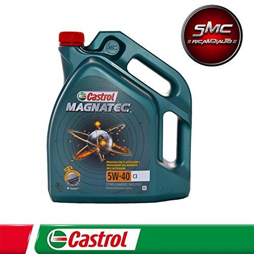 Olio CASTROL MAGNATEC 5W40 C3 Motore SINTETICO AUTO DIESEL BENZINA 5 LT Lit