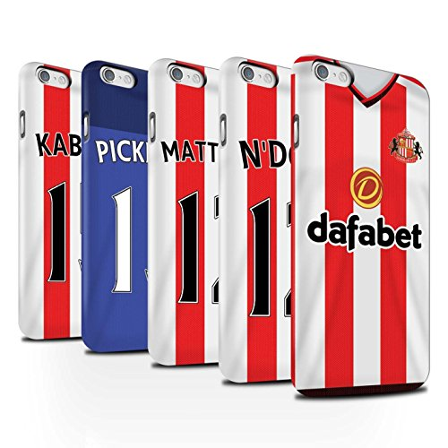 Offiziell Sunderland AFC Hülle / Matte Snap-On Case für Apple iPhone 6 / Borini Muster / SAFC Trikot Home 15/16 Kollektion Pack 24pcs