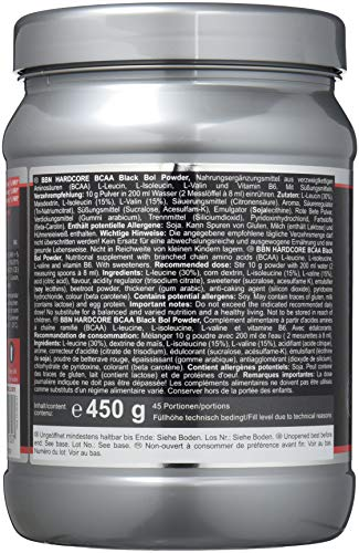 BBN Hardcore BCAA Black Bol Powder, 450 g Dose, Blood orange - 4