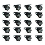ASR-Rollen ® 20 Stück 30 mm Kastenrollen Bettkastenrollen Kastenbockrollen Seitenrollen mit Softrad