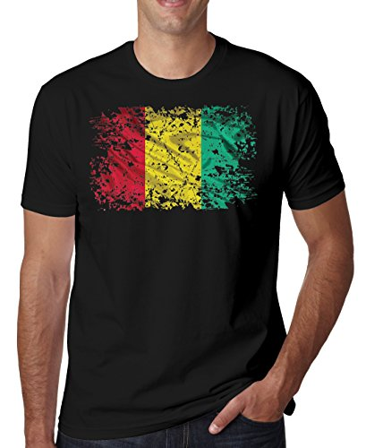 Guinea Africa Conakry Country Series Nationality Flag Nice to Herren T-Shirt XX-Large -