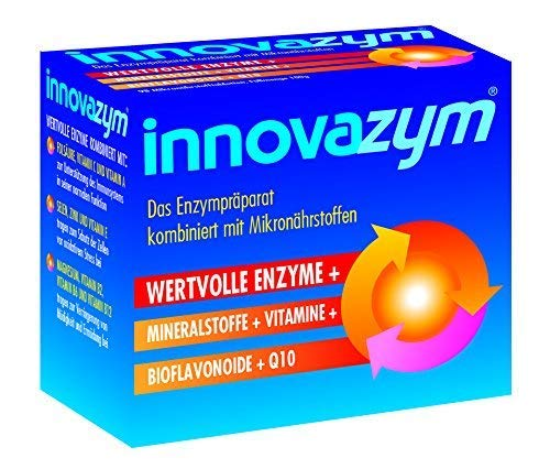 innovazym® Multi-Enzym-Komplex  Entwickelt von der Medizinischen Enzymforschungsgesellschaft  Lysozym+Papain+Bromelain+Bioflavonoide+Q10+Vitamine   98 Tabletten hochdosiert