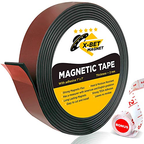 fen-2,5cm X 7Füße Magnetband mit starkem, selbstklebend, 3m-Tolles Craft Magnete für DIY Projekte und Foto-Sticky magnetisch Blatt ()