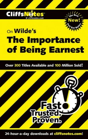 CliffsNotes on Wilde's The Importance of Being Earnest (Cliffsnotes Literature Guides)