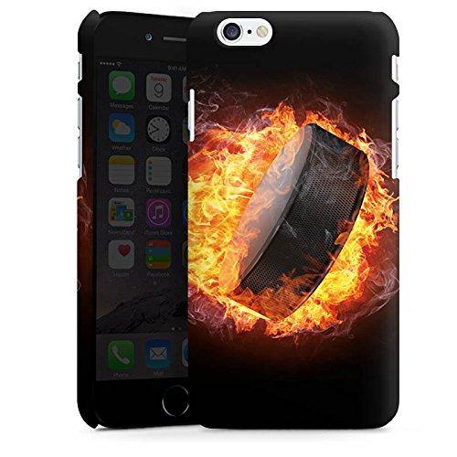Apple iPhone 5s Silikon Hülle Case Schutzhülle Eishockey Flammen Slapshot Premium Case matt
