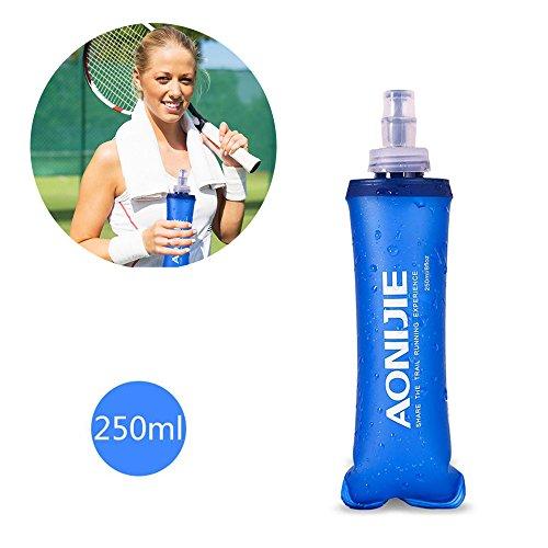 (Myhonour Sportflasche Weiches Wasser Flasche BPA Frei Faltbare 250/500ml (250ml))