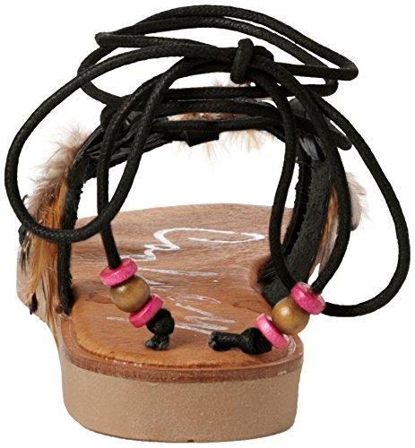 Coolway Daikiri, Sandales avec lanière de cheville femme Noir (Black)