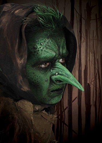 Spitze und lange Goblin Nase LARP-Applikation aus Latex Cosplay Fasching (Einfache Epic Kostüme Halloween)