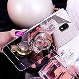 Custodia Samsung Galaxy J5 2017/J530(Versione Europea), Samsung Galaxy J5 2017/J530 Specchio Duro Custodia Cover, EUWLY Uomo Donna Ragazzo Ragazza Moda Lusso Specchio Riflessione Scintillio Custodia Case Con Bling Diamante Glitter Strass Anello Supporto Protettiva Cover Case Ultra Sottile Anti-Graffio Antiurto Alta Qualità Protezione Custodia Ring Stand Holder Protettiva Bumper Copertura Cover per Samsung Galaxy J5 2017/J530 Con Free Stilo Penna, Amore Diamante,Specchio Argento