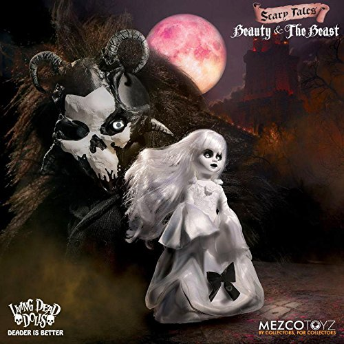 Close Up Mezco Toyz Living Dead Dolls Beauty and The Beast 2-TLG. Puppenset, je 25 cm hoch - Disney Sammler-puppen
