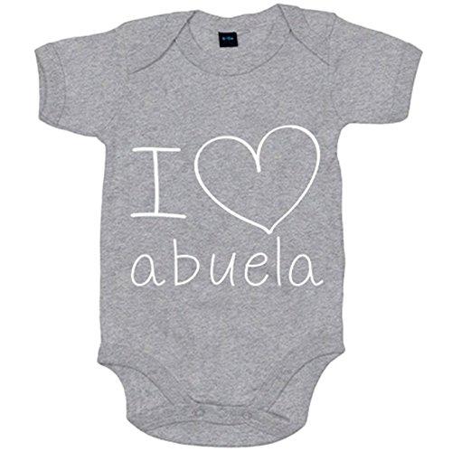 Body bebé I Love abuela - Gris, 6-12 meses
