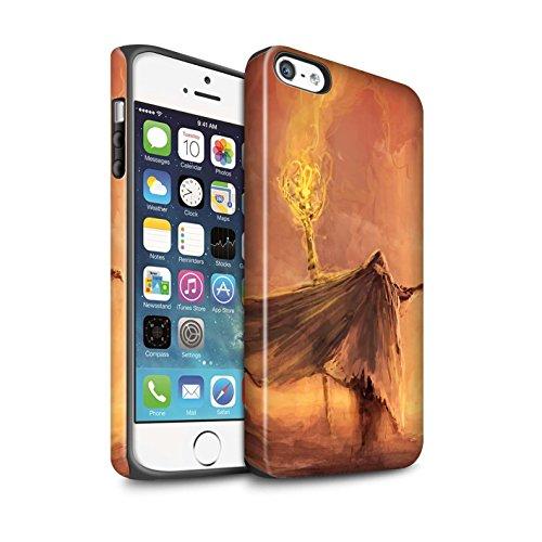 Offiziell Chris Cold Hülle / Matte Harten Stoßfest Case für Apple iPhone 5/5S / Ghouls der Furcht Muster / Dämonisches Tier Kollektion Kriegsheld/Warlock