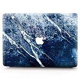 AQYLQ MacBook Schutzhülle/Hard Case Cover Laptop Hülle [Für MacBook Pro 13 Zoll – mit CD-Laufwerk: A1278], Ultradünne Matt Gummierte Hartschale Tasche Schutzhülle, S17 Dunkelblauer Marmor