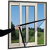 Uus Moskito-Vorhang Mosquito Screen Vorhang, Haushaltsdämpfer Klett Fenster Unsichtbare Gaze Sommer Screen Fensternetz Abnehmbar WZHANG (Farbe : SCHWARZ, größe : 1.4x1. 6m)