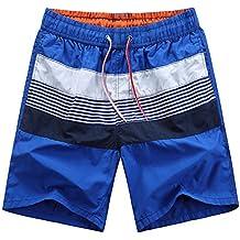 Bañador de natación - Hombres Pantalones Cortos a Rayas Pantalonetas De Playa