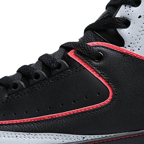 Nike  Air Jordan 2 Retro, Chaussures de sport homme black/infrared 23-pr pltnm-wht
