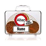 Cera & Toys® Geldbox als Koffer mit Verkehrszeichen und Gratis Namensdruck