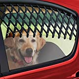 UxradG Pet Window Vent guardia, telescopica auto finestra cane Vent/Guard, nero