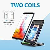 Wireless Fast Charger, PrimAcc Wireless Ladegerät Qi Induktive Ladestation QI Ladegerät für alle Qi-fähige Geräte, mit Schnellfunktion für Samsung Galaxy S8/S8 Plus/ S7/ S7 Edge/ S6 Edge Plus/ Note 5 - 3