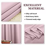 """PONY DANCE Eyelet Blackout Curtains - Thermal Insulated Room Darkening Noise Reducing Solid Blackout Curtain Window Treatments for Nursery Girls' Room, 2 Pieces, W 46"""" by D 54"""" per Panel, Baby Pink Bild 6"""