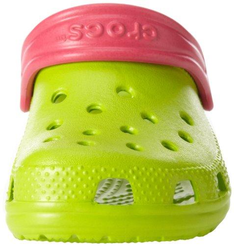 Crocs Classic Kids 1006, Sabot Unisex – Bambini Verde (Volt Green/Raspberry)