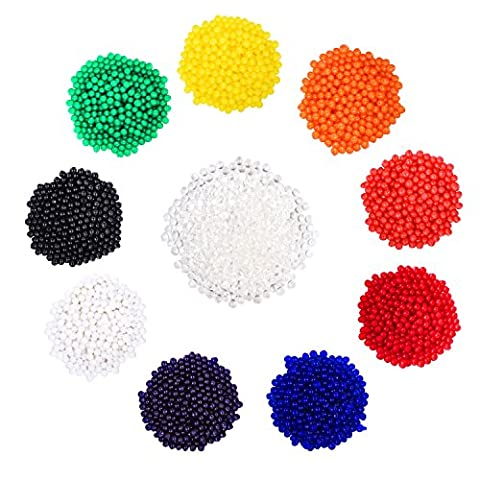 eBoot Water Crystal Beads Water Growing Balls Jelly Crystal Balls Vase Filler Beads for Wedding and Home Decoration, 10 Colors, 40