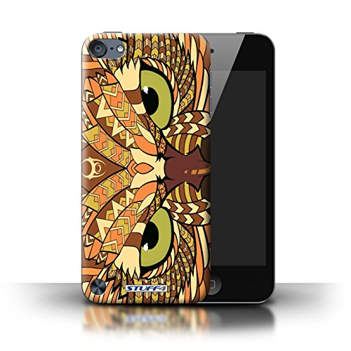 Stuff4® Hülle/Hülle für Apple iPod Touch 5 (5th Generation) / Eule-Orange Muster/Aztec Tier Muster Kollektion (Ipod 4. Generation Eule Case)