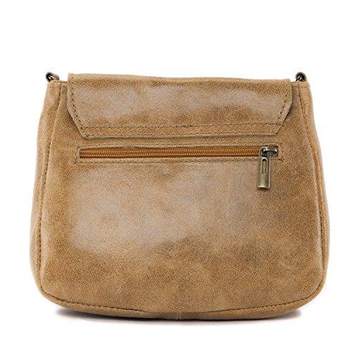 OH MY BAG Sac à main cuir femme Modèle Sia COGNAC CLAIR