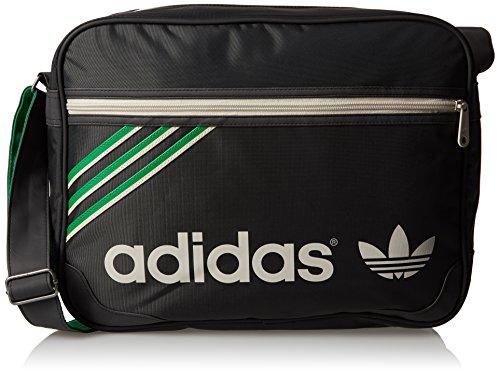 adidas Schultertasche Adicolor Airliner, carbon/black/fairwa/bliss, 38 x 12 x 28 cm, F79436