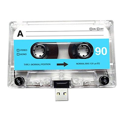 USB Mix cinta, Retro, Quirky, música, fresco, lindo, amor, regalo, novio, novia, 80s, 90s, Danza, Rock, Rnb, Hip Hop, Gadget, Geek, oficina, novedad, cumpleaños, boda, aniversario, Valentines, Navidad, regalos para ella, regalos para él, Thoughtful, unidad flash, casete, Boom Box, cinta, diversión, subir canciones, fotos y vídeos transparente 4 GB